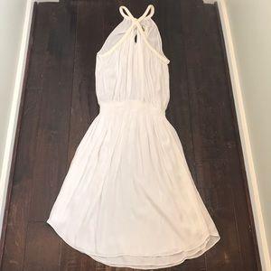 RAMY BROOK White Silk Blouson Midi Dress Sz M